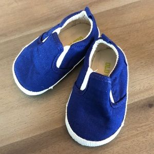 Old Navy baby boat shoes navy size 3-6 months